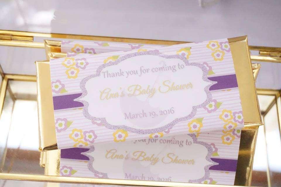 Elegant Yellow And Purple Baby Shower Ideas