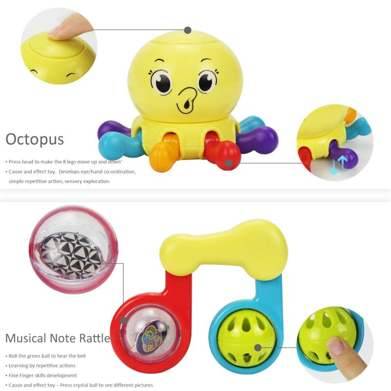 Octopus and Musical note rattle