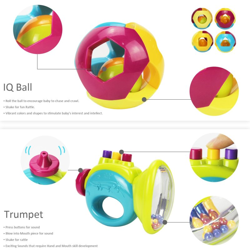 IQ ball and Trumpet toy