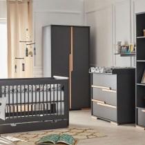 Babykamer Snap donkergrijs met een doorgroeibed 70 x 140 cm