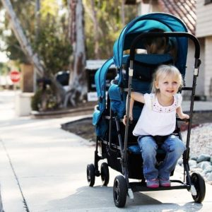 Joovy Triple Stroller back