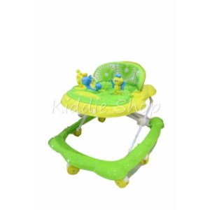 327 Height Adjustable Musical Soft Cushion Baby Walker (GREEN)