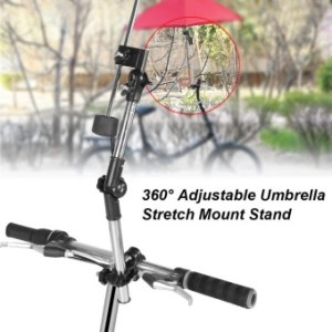 360 Degree Adjustable Umbrella Stretch Mount Stand Holder BabyStroller Pram Bicycle Chair Black - intl