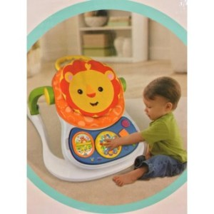 4-in-1 Multifunctional Entertainer Lion Baby Walker(Orange)