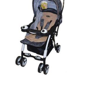 Apruva Folding Deluxe Baby Stroller with Reversible Handle (Beige& Black combination)