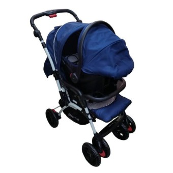 BABY 1st CD-B032RD Stroller with Car Seat (Blue)