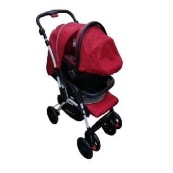 BABY 1st CD-B032RD Stroller with Car Seat Red