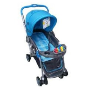 Baby 1st CD-S036B Stroller w/ Toy and Reversable Handle (Blue)