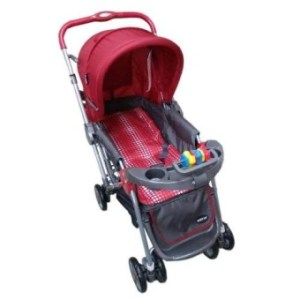 Baby 1st CD-S036B Stroller w/ Toy and Reversable Handle (Red)