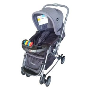 Baby 1st Stroller with Reversible Handle and Rocking FeatureS-036CR (GRAY)