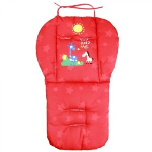 Baby Infant Stroller Seat Pushchair Cushion Cotton Mat Red