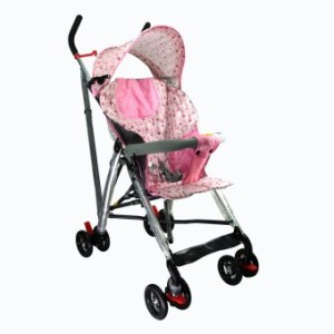Baby Stroller Dotted Pink
