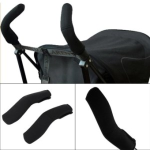 Baby Stroller Grip Cover Carriages Handle Protector Cover Black -intl
