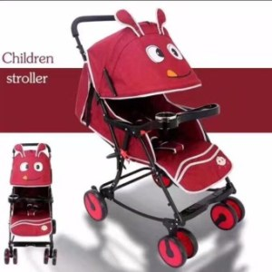 Baby Strollers Ultra-Portable Child Carts Kids Trolley (Red)