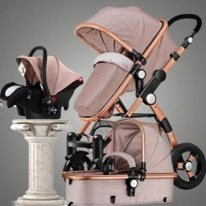 Cocotina Luxury Baby Stroller 3 in 1 High view Pram Foldable Pushchair Bassinet&Car Seat - intl