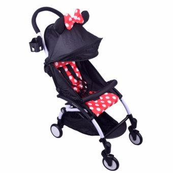 Foldable Pocket Stroller Mickey (Red)