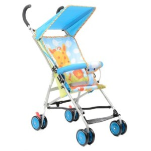 Happy Dino Buggy Lightweight Umbrella Stroller (Blue)