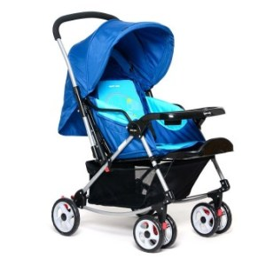 Happy Dino Luxury 4-Way Rocker Stroller (Blue)