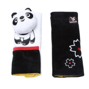 HengSong Baby Car Seat Strollers Cartoon Panda Shoulder ProtectiveBelt White - Intl