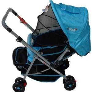 IRDY 829A 3- ways stroller w/ 8 wheels reversible handle w/ mosquito net (blue)