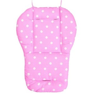Kids Baby Dots Cotton Cartoon Double Sided Available Stroller Seat Dining Chair Pad Cushion Pink - intl