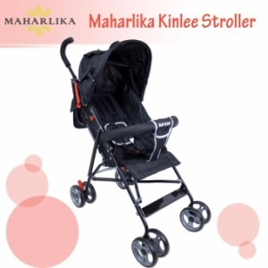 Kinlee B-5 Lightweight Foldable Umbrella Stroller Baby Trolley Cushion Chair Portable Baby Stroller (Black)