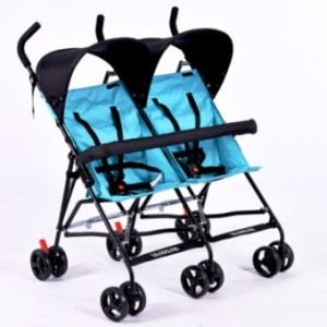 Lightweight Compact Side by Side Twin Umbrella Stroller