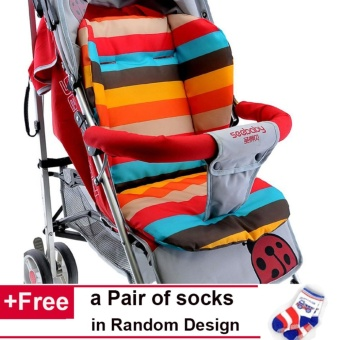 ?Stroller not Included?Baby Trolley Cushion Chair Mat Thick Waterproof Urinal Pad Baby Stroller Cushion Pad Stroller Accessory -intl