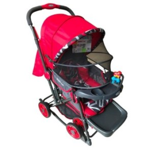Baby 1st Stroller S-036CR with Rocking System (red)