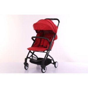 Baby Stroller Compact Folding Stroller lightweight Baby Pram Easy to Take City tour(RED)
