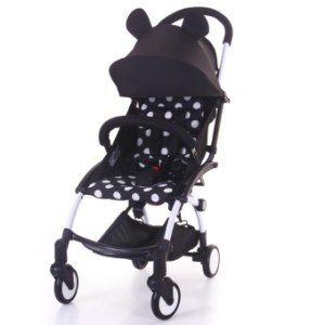 Babytime Portable Pushchair Lightweight Compact and Cabin Size Stroller(Mickey)