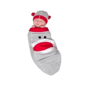 """Cozy Cocoon """"Super Easy Swaddling"""" Outfit With Matching Hat - Monkey- 0-3 Months"""