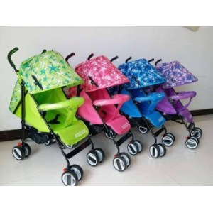 Foldable Compact Baby Stroller with Canopy Style #208 (Blue)
