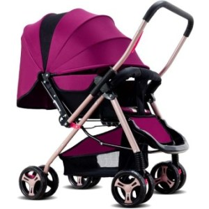Four-wheel Foldable Pram Baby Stroller - intl