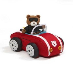Gund Baby GUND Light And Sounds Sports Car Plush With Teddy Bear Driver- Multi