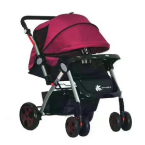 High Class Foldable Compact Baby Stroller with Canopy Style T2 (Red)