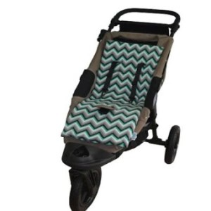 Tivoli Couture Luxury Memory Foam Stroller Liner- Chevron Green