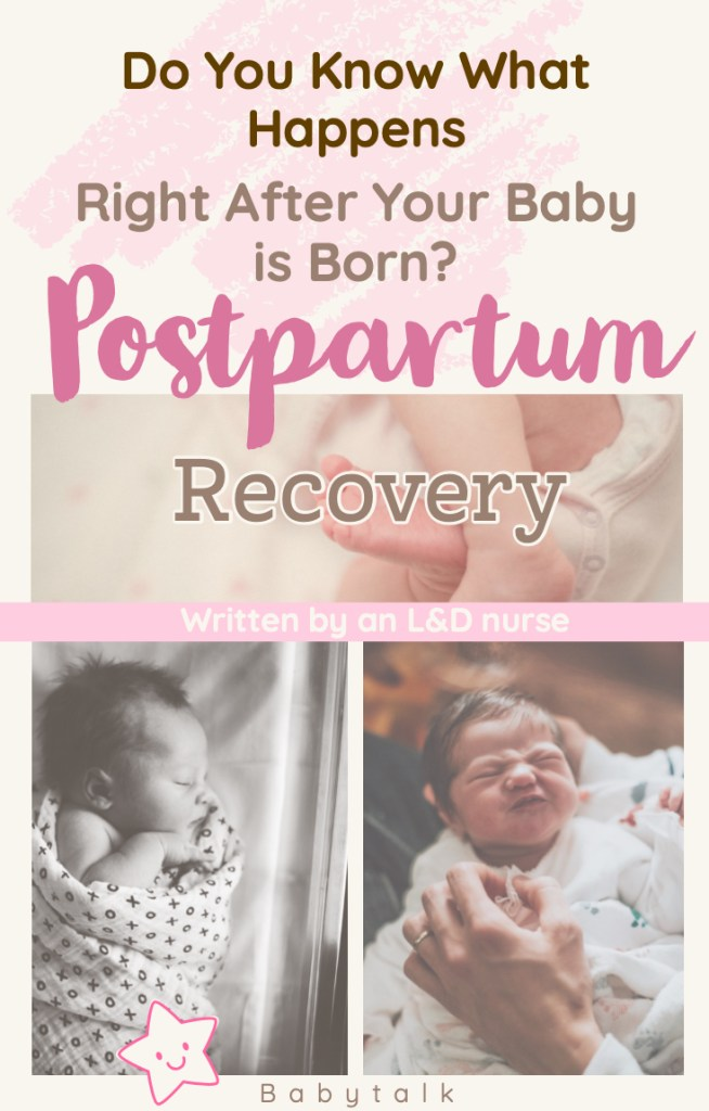 Postpartum tips after baby is born