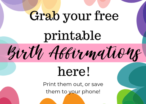 free printable birth affirmations