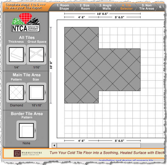 Bathroom Tile Planner Tool