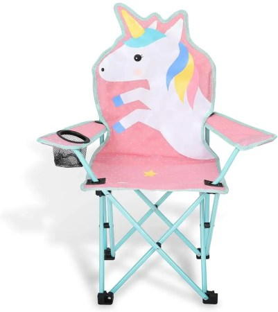 kaboer kids outdoor folding lawn and camping chair in pink color
