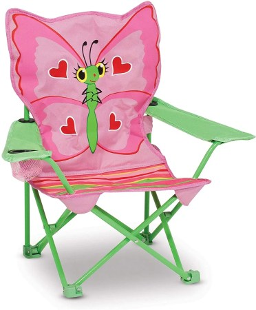 melissa & doug folding beach chair for kids isolated on white background