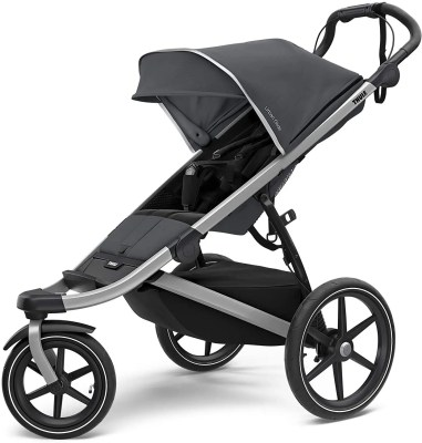 thule urban glide jogging stroller isolated on white background