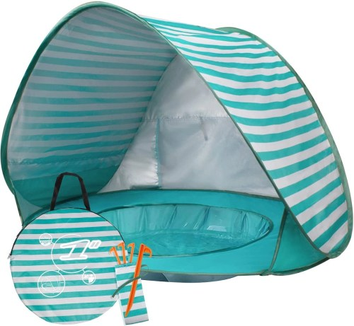 buenavo baby beach tent pop up isolated on white background