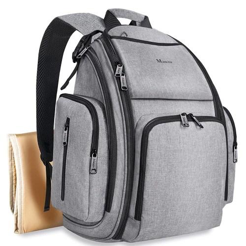 mancro large multifunction diaper bag backpack isolated on white background