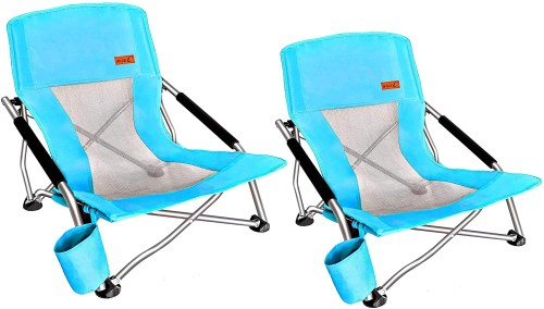 nice c low beach camping folding chair isolated on white background