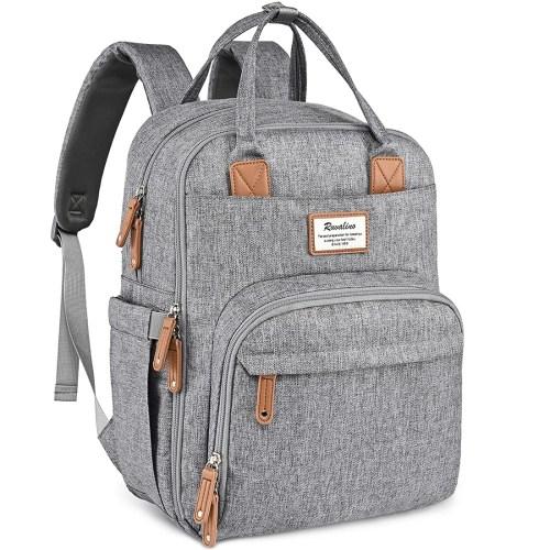 ruvalino multifunction diaper bag backpack isolated on white background