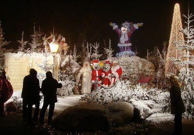 parque efteling en Navidad