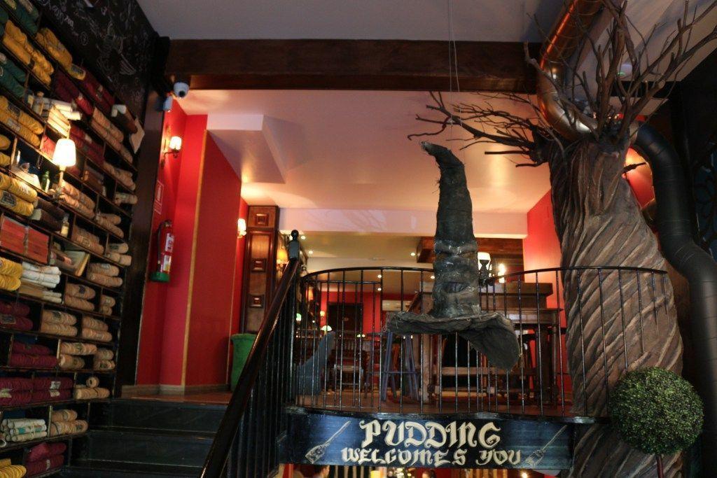 Cafeteria en Barcelona ambientada en Harry Potter