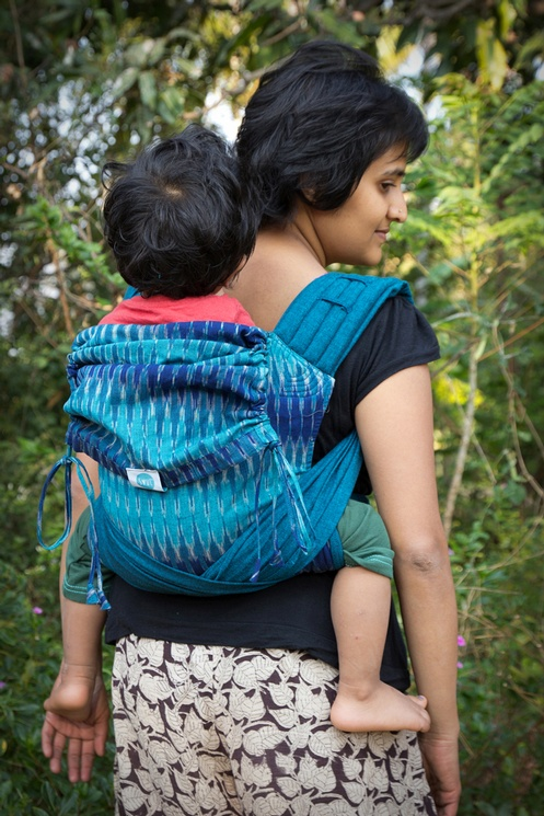 10f1d28b5dc SOUL SLINGS Meh Dai - Aster on Blue - Babywearing and You